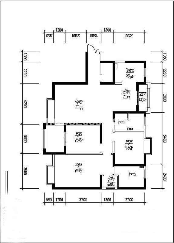 曲江观山悦户型图3室2厅2卫1厨 146.81㎡