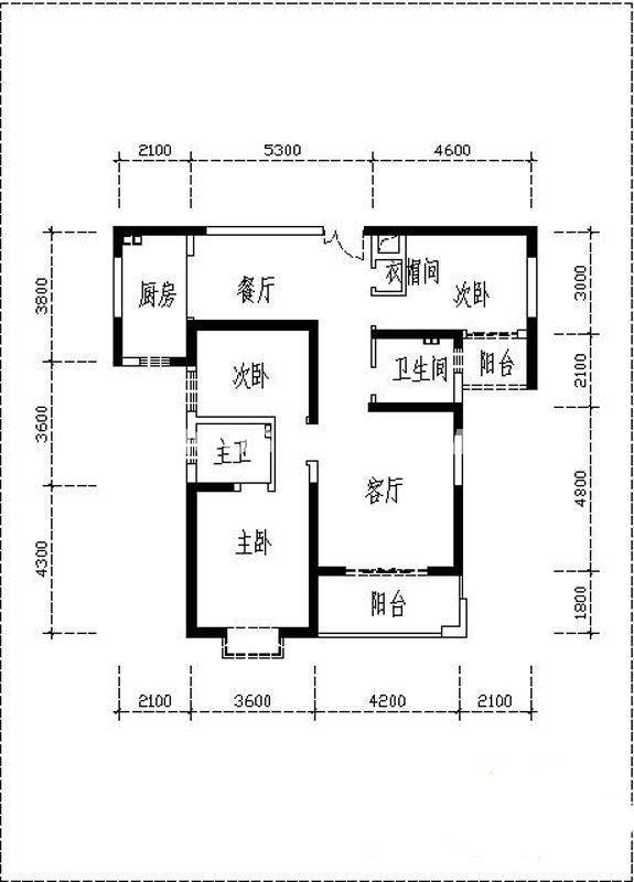曲江观山悦户型图3室2厅2卫1厨 128.46㎡