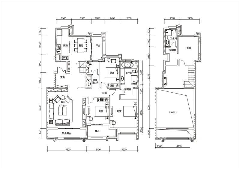 曲江观山悦户型图4室2厅3卫1厨 235.00㎡