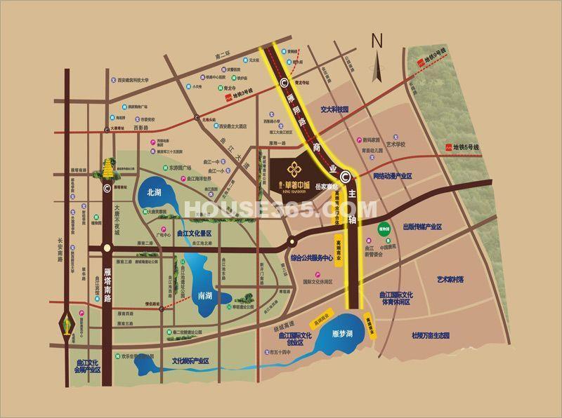 曲江华著中城交通图