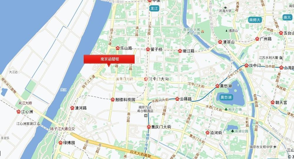 南京涵碧楼区位图