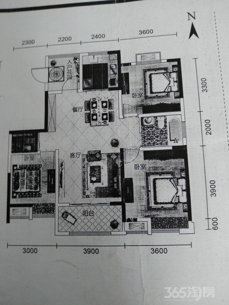 绿地世纪城3室2厅1卫110平米2017年产权房毛坯