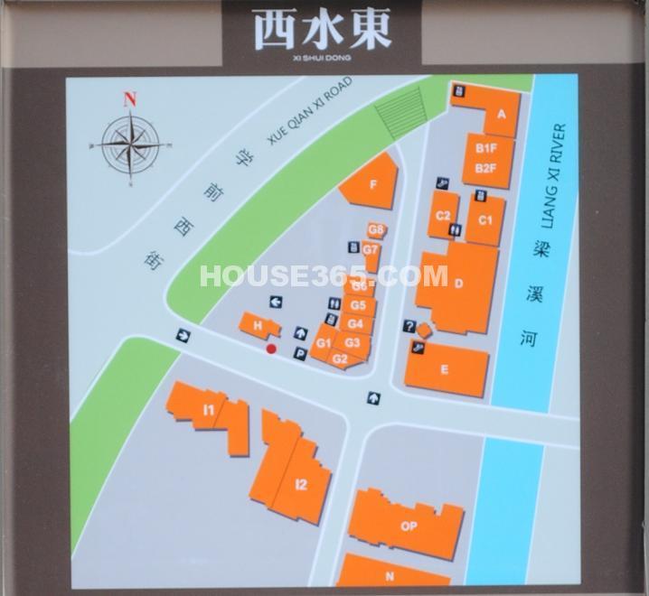 绿地西水东中央生活区商铺分布图