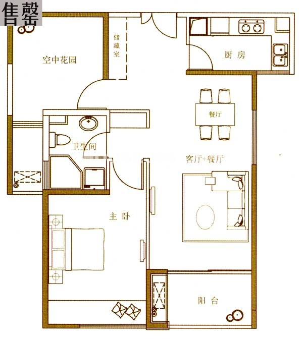 绿地西水东中央生活区涉外服务公寓精致公馆