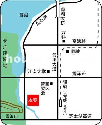 新华太湖数码动画影视创业园区位图