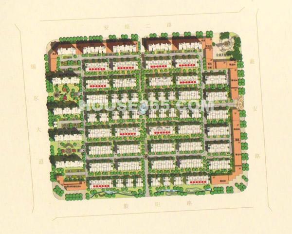 华夏世纪锦园交通图