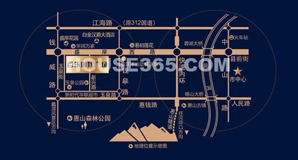 百乐广场交通图