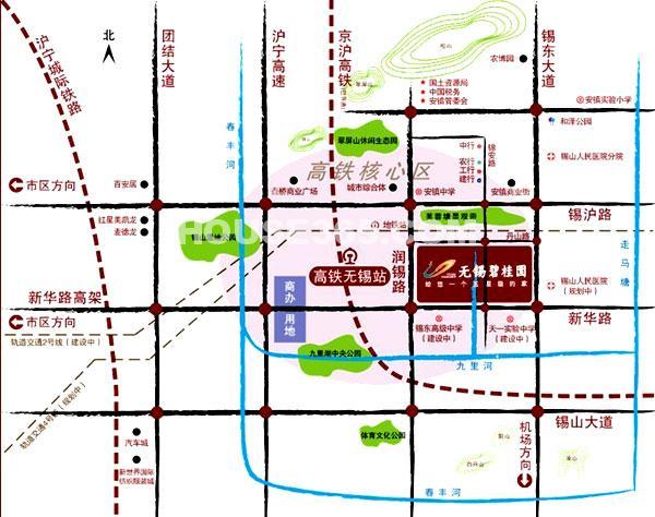 无锡碧桂园交通图