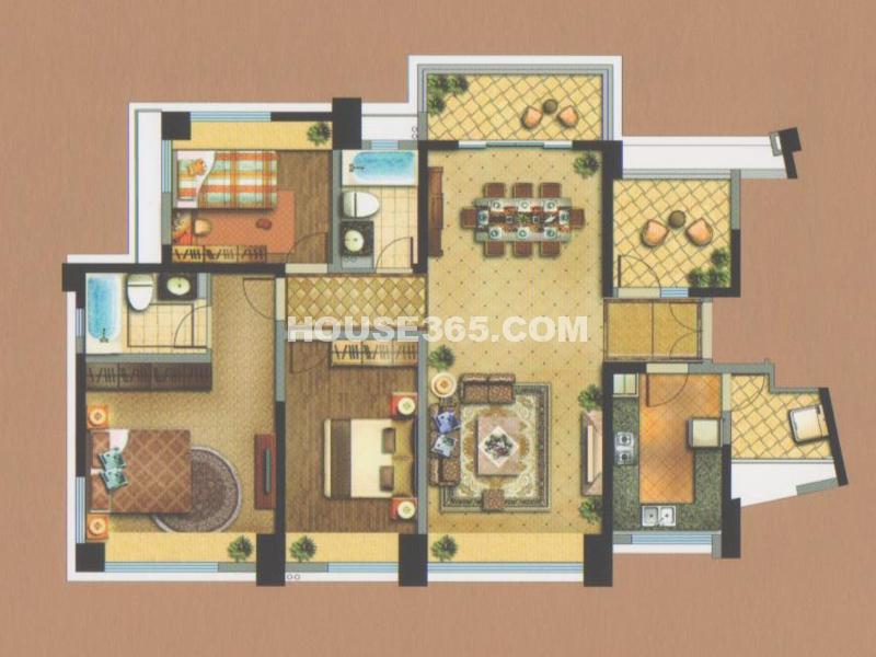 御翠天峯菁英之家-三房两厅两卫+空中花园