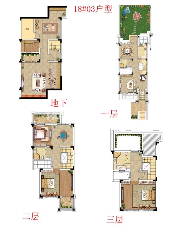 别墅18#03户型-三室三厅三卫