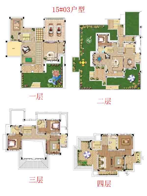 别墅15#03户型-六室四厅五卫