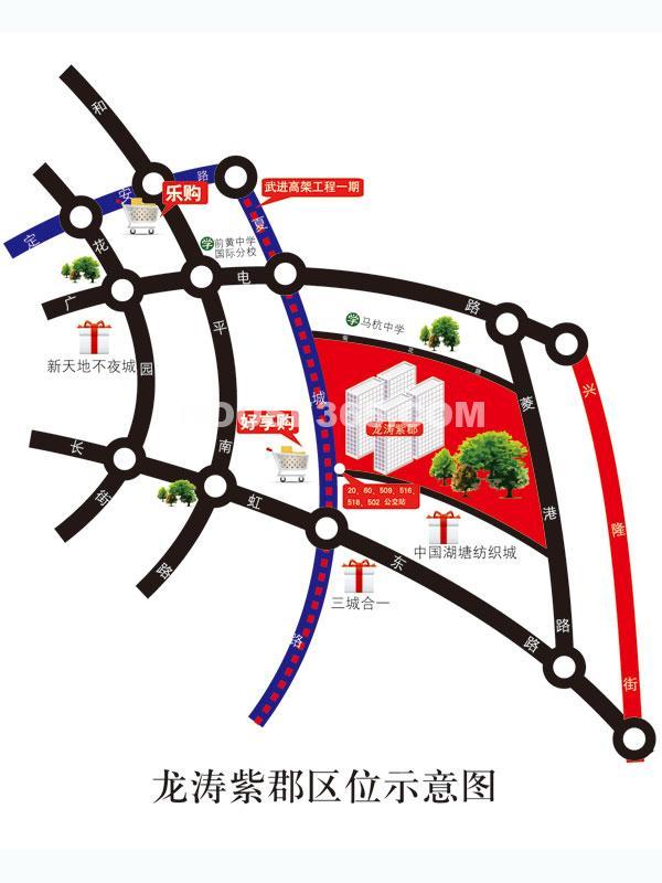 龙涛紫郡交通图