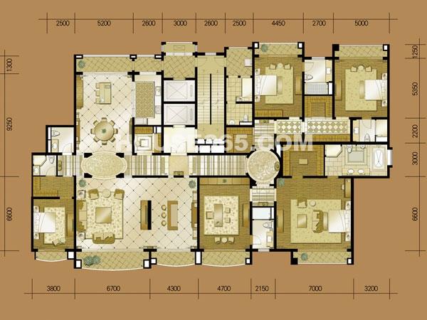 A3# 六室二厅一厨四卫 建筑面积约500㎡