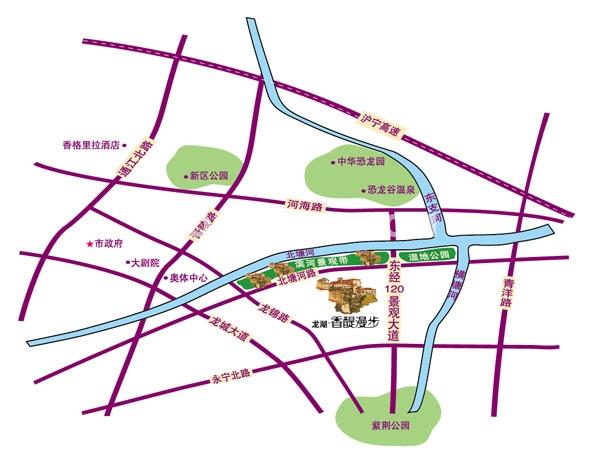 龙湖香醍漫步交通图