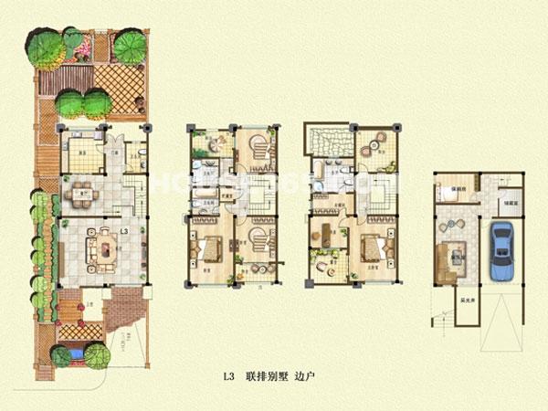L3户型-联排别墅-边户
