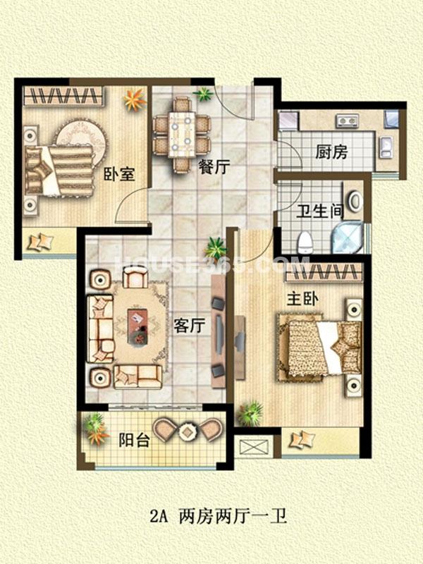 2A户型-两室两厅一卫
