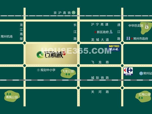 绿都万和城区位地图