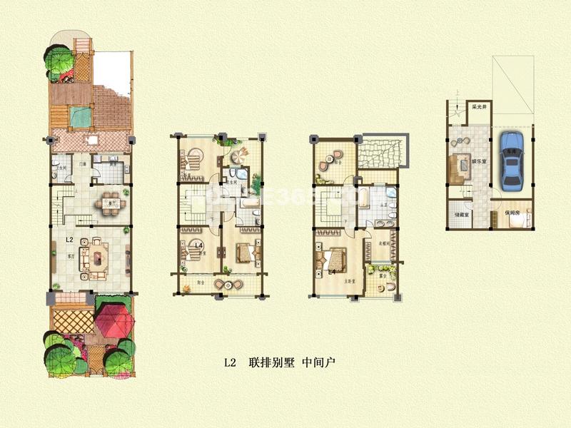 二期别墅户型L2+地下车库