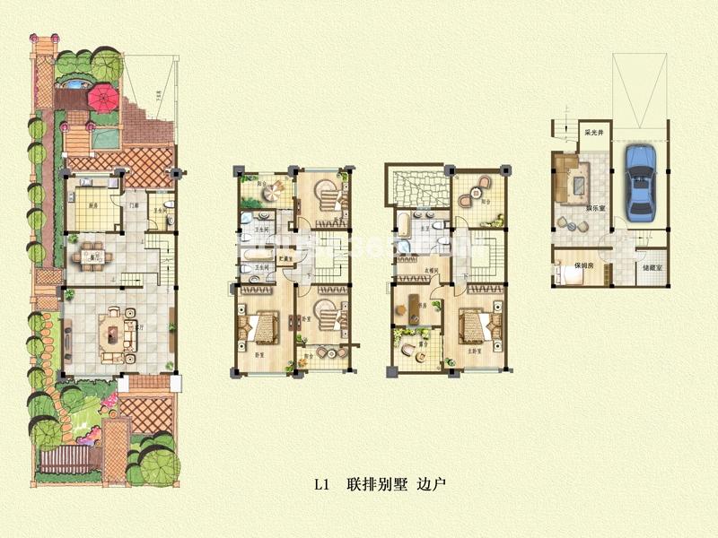二期别墅户型L1+地下车库