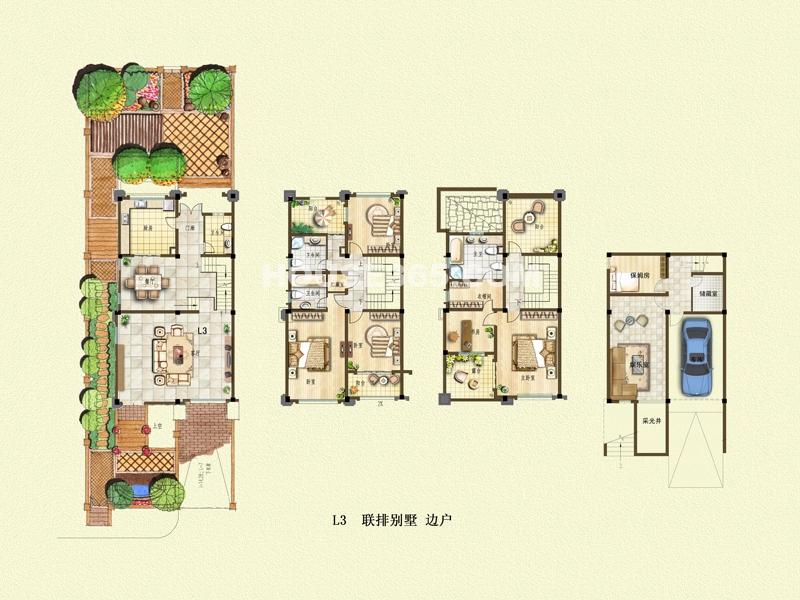 二期别墅户型L3+地下车库