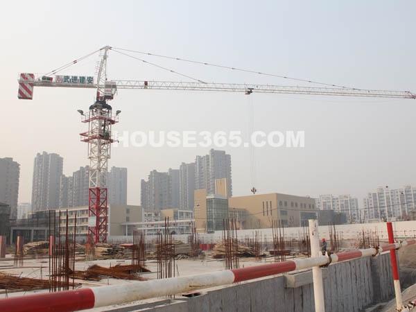 九洲花园缇香郡18#-28#楼工程进度(2011.2.25)
