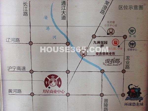 九洲花园二期缇香郡交通图