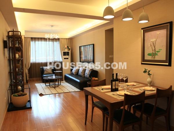B户型104㎡样板间餐、客厅实景图
