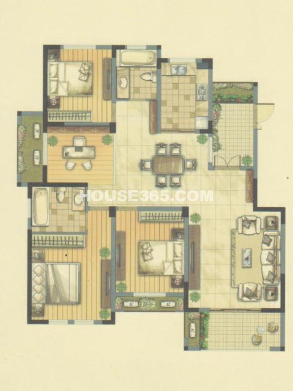 G户型24、27#楼-四室两厅两卫+赠送入户花园