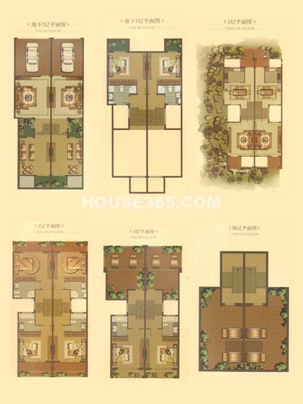 别墅A户型-总建筑面积263㎡
