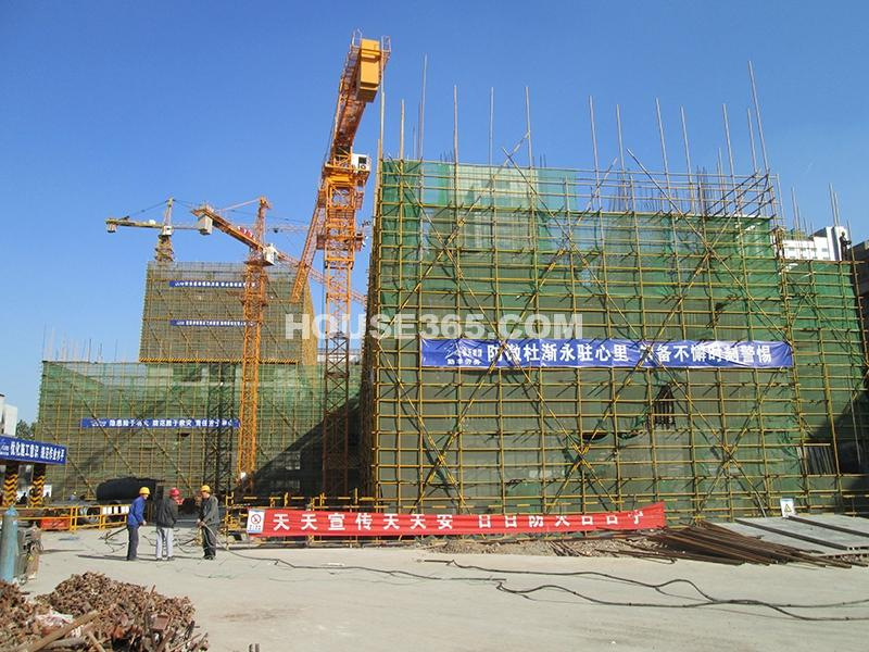 恒天国际城2号楼施工进度图(2012年11月)
