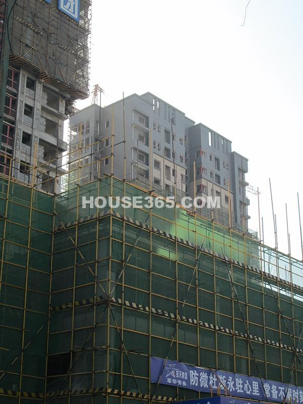 恒天国际城17号楼施工进度图(2012年11月)