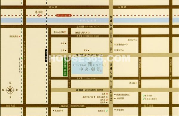 洛城中央御景交通图