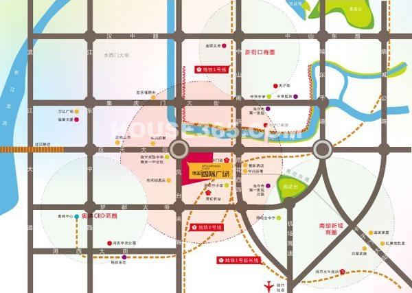德盈国际广场交通图