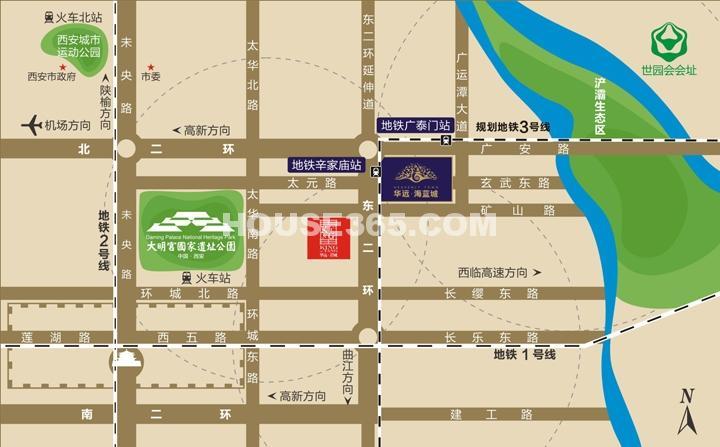 华远海蓝城区位图