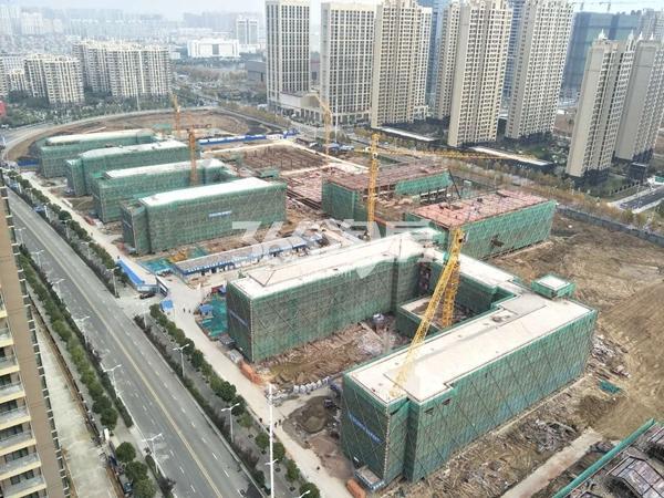 禹洲新城里 工地俯视图 201712