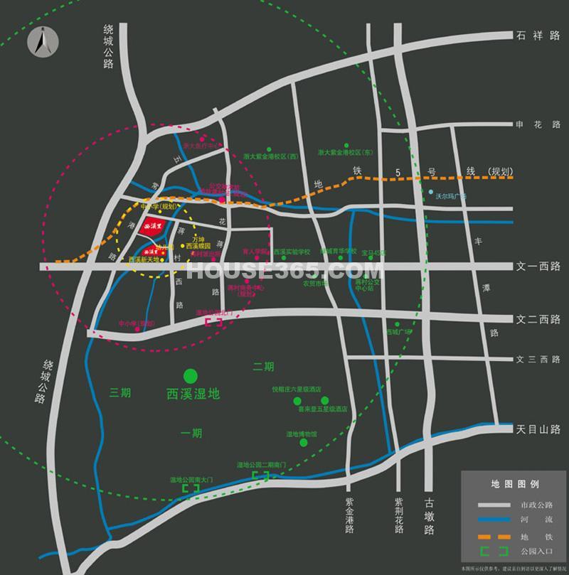 坤和西溪里交通图