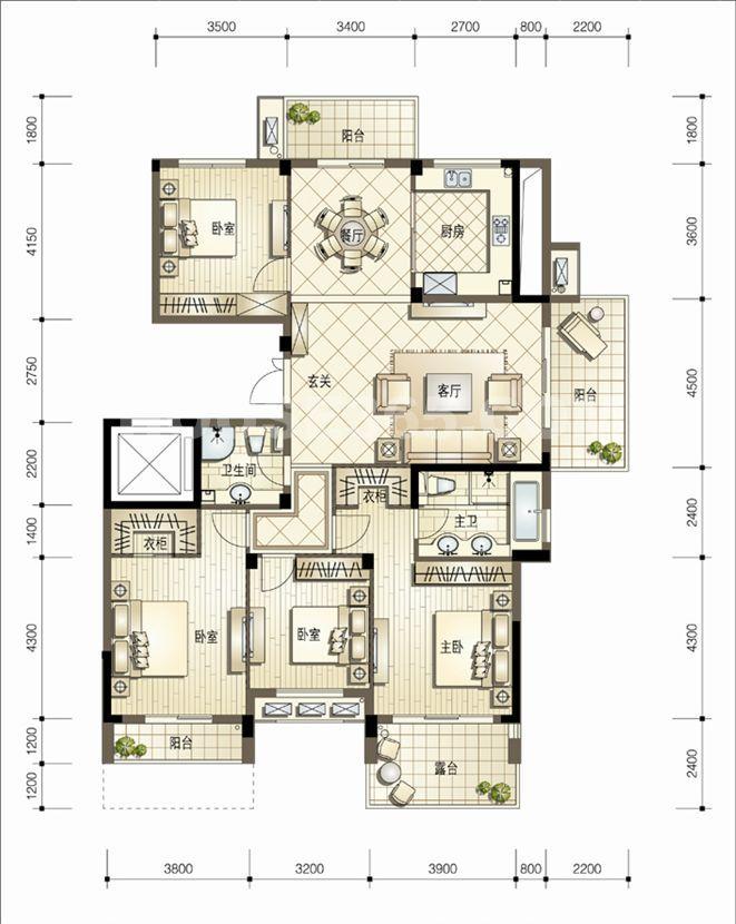 熙园5号楼178平方米奇数层