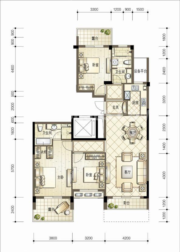 熙园5号楼137平方米偶数层