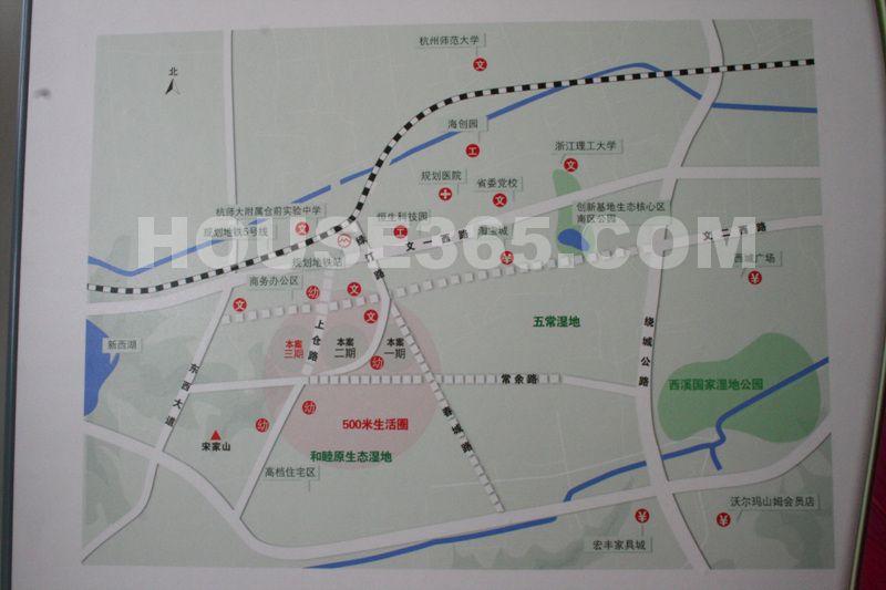 青枫墅园交通图