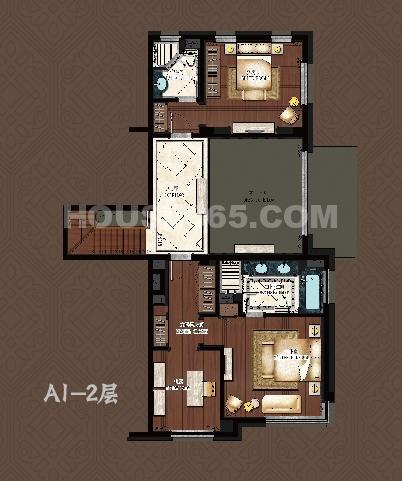 9号楼A1户型 二层