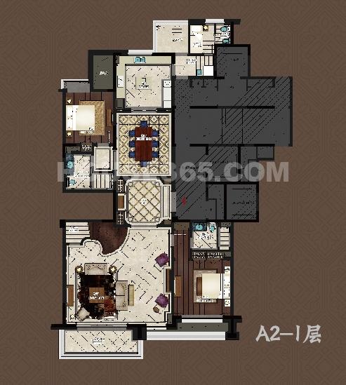 9号楼A2户型 一层