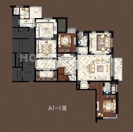 9号楼A1户型 一层
