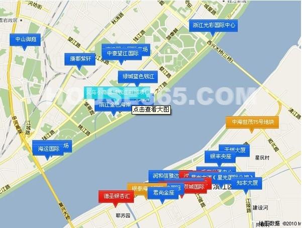 滨江钱塘印象交通图