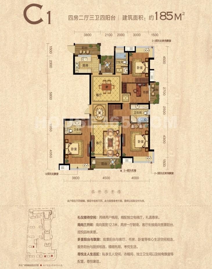 开元广场C1户型图