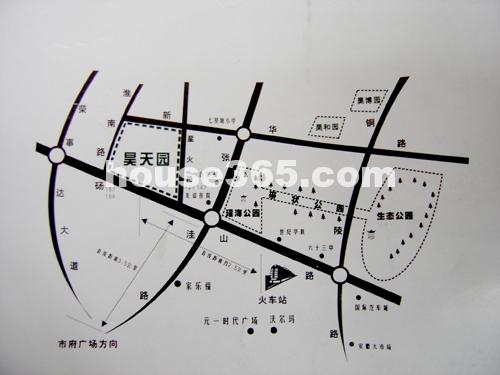 昊天园交通图