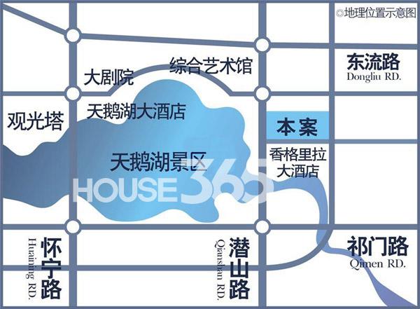 蔚蓝商务港交通图