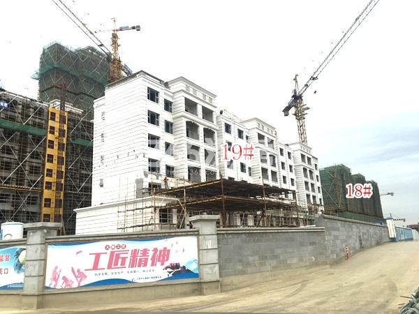恒大观澜府B地块洋房19#、25#楼,高层33#楼实景图(2018.4 摄)