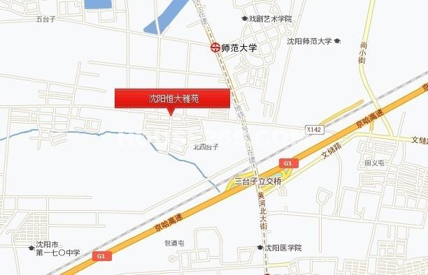 沈阳恒大雅苑交通图