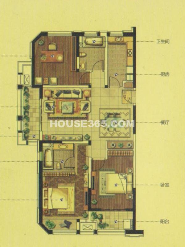 GC2户型(20#)-三室两厅两卫