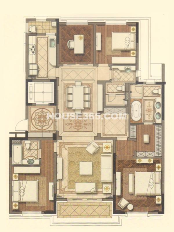 E户型-四室两厅三卫